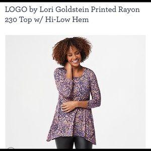 COPY - Logo by Lori Goldstein printed rayon top